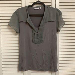 New York & company gray blouse
